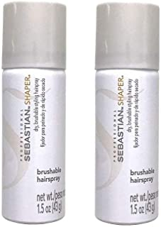 2 Packs Shaper Dry Brushable Styling Hairspray with Control 1.5oz