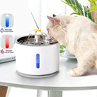 Pet Cat Water Fountain with Water Filter for Cat Drinking,2.5L(84oz) Electric Automatic with Power failure protection with...
