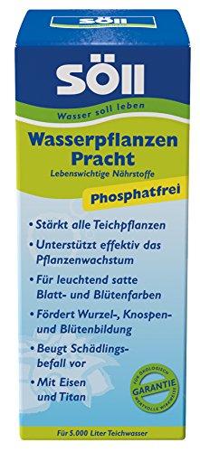 Söll 11320 WasserpflanzenPracht Düngepräparat für Teichpflanzen 500 ml - phosphatfreies Teichpflegemittel mit Eisen und Titan zum Düngen von Wasserpflanzen Seerosen Teichrosen im Gartenteich