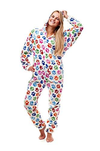 Kajamaz Pijama Entero sin pies para Adultos, Huellas Caninas Go-Jamz: Pijama Entero sin pies para Adultos, (Small)