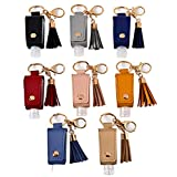ASZNARD Travel Bottles Keychain Holder 8 Pieces/Set 30ML Empty Refillable Bottles Hand San...
