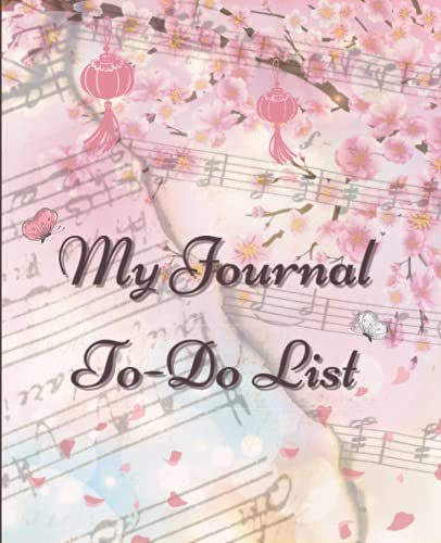 My Journal To-Do List: Cherry Blossom style Floral Design To Do Check Lists for Daily and Weekly Planning
