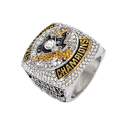 SUSU Pittsburgh Penguin-Meisterschaft-Ring 2016 Eishockey Kollektion Souvenirs Fans Geschenk Schmuck 12