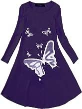 FTSUCQ Girls Lovely Butterflies Print Dress