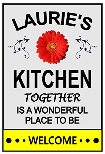 Kitchen Magnet. Laurie's Red 5 popular Flower. for any Customize Name. Thi Gifts