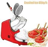 DBMGB Eiscrusher Elektrisch, EIS Zerkleinerer Elektrisch Mit Verstellbarer Doppelklinge, Ice Crusher Eismaschine Ideal für Dessertladen, Gewerblich und Häuslich