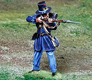 Civil War Toy Soldiers 2nd Wisconsin Iron Brigade Infantry Firing Battle of Gettysburg Figure Collectors Showcase Toy Soldiers Painted Metal Figure 1/32 Britains King Country Gunn First Legion Type CS00847