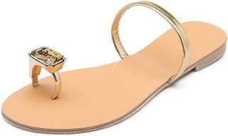 Galaxy-DF Verano de Las Mujeres de Cristal Plana Zapatillas Damas resbalón de los Zapatos Flip Flop Playa Femenino Ocasional del tamaño Extra Grande