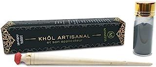 Khôl artisanal 100% naturel - SANS PLOMB - flacon de 10g avec applicateur en bois.