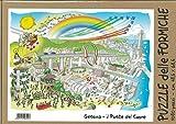 Puzle de 1080 piezas de corte invisible con las hormigas de Fabio vori Genova. El puente del corazón. Génova Puente Morandi