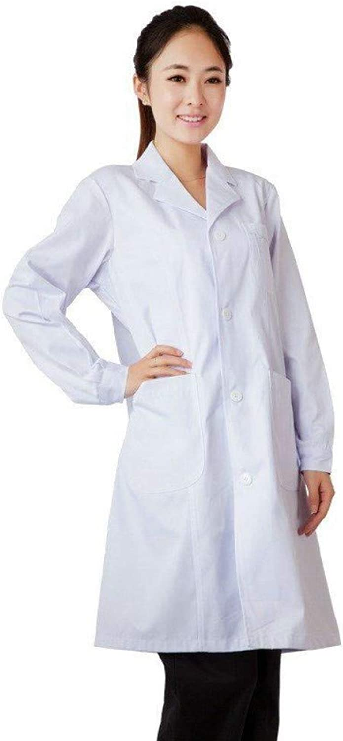 ESENHUANG White Medical Robe Hospital Nurse Uniform Women Medical U