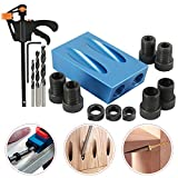 15 Degree Angled Holes Inclined Hole Positioner Woodworking Pocket Hole Jig Dowel Drill Kit,Hole Puncher Locator Jig Drill For Carpentry