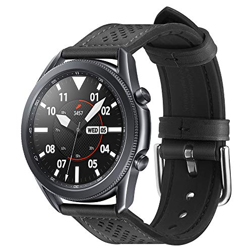 Spigen Retro Fit Compatible con Samsung Galaxy Watch 3 45mm Correa Band (2020) / Galaxy Watch 46mm Band (2018) / Gear S3 Frontier Band / S3 Classic Band- Negro