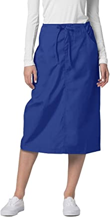 Adar Universal Mid-Calf Length Drawstring Skirt (Available is 17 solid colors)