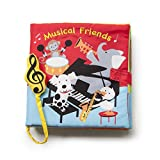 DEMDACO Playing Animal Friends Music Note Primary Hues Children's Musical Soft Book Toy