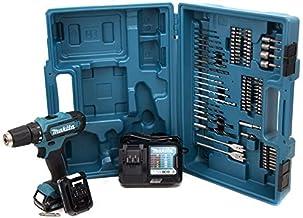 Makita DF331DWAX2 Drill Sin Llave Negro, Azul 1,1 kg - Taladro eléctrico (1 cm, 2,1 cm, 30 NM, 450 RPM, 1700 RPM, Batería)