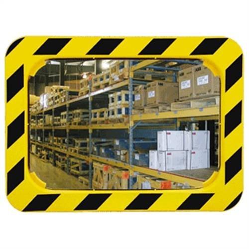 Industriële en logistieke spiegel, hoekig, kunststof, 40 x 60 cm