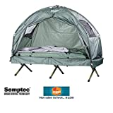 Semptec Urban Survival Technology Zeltliege: 4in1-Zelt mit Feldbett, Schlafsack und Matratze, 1000 mm Wassersäule (Feldbett)