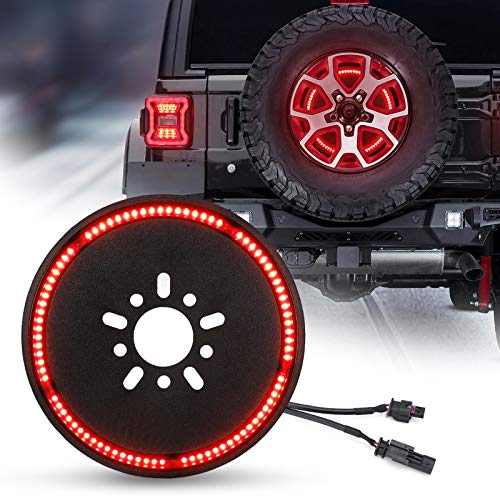 SUPAREE (Plug and Play) Spare Tire Brake Light Wheel Light 3rd Third Brake Light Compatible with 2018 2019 2020 Wrangler JL JLU with Back Up Camera