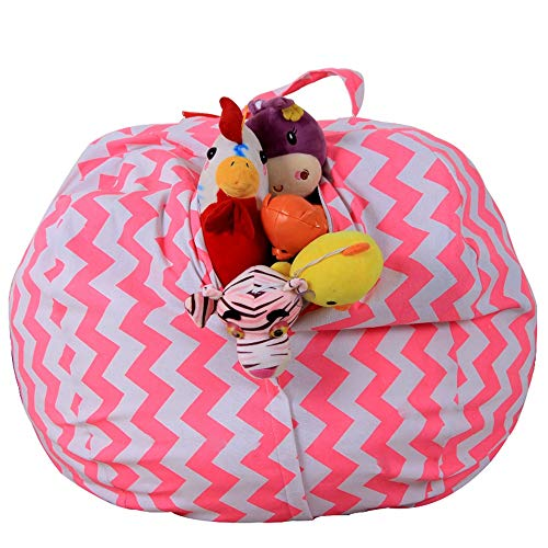 ROGF Almacenamiento Bolsa de Viaje Bolsa de Frijoles para niños para Viajar (Color : Pink, Size : 26inch)