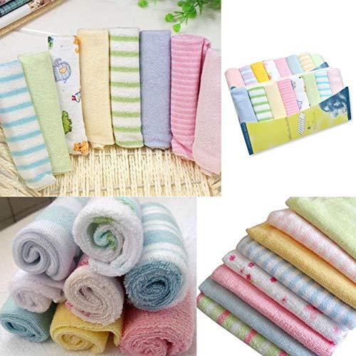 pegtopone - 8 pañuelos de algodón suave para recién nacidos, pañuelos, bandana, drool, pañuelos, manoplas de baño, pañuelos, paños de lactancia, paños de bebé, baberos, sopa física
