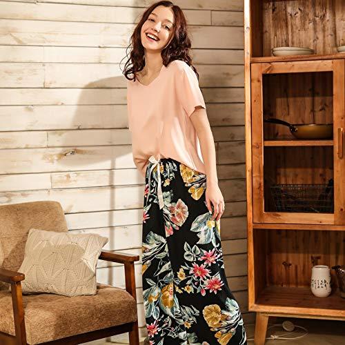 Pijamas Conjunto De Pijamas para Mujer, Cómodo Algodón, Vi