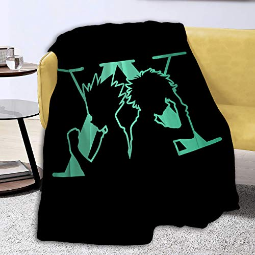 Kiki Aces Blankets Anime Hunter-x-Hunter Flannel Fleece Plush Anti-Pilling Cozy Bed Throws for Home - 80x60 Inches
