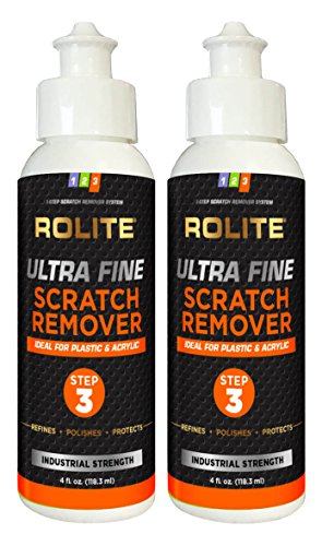 Rolite Ultra Fine Scratch Remover (4 fl. oz.) for Plastic & Acrylic Surfaces Including Marine...