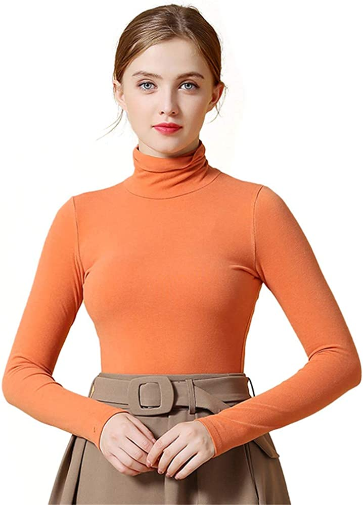 Dizadec Thermal Underwear Mock Turtleneck Tops for Women Pullover Active Workout Shirt Lightweight Base Layer