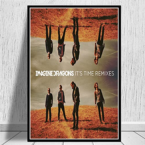 daerduotutu Imagine Dragons Evolve Origins Music Group Canvas Painting Posters And Art Picture Abstract Home Decor A238 50 × 70 cm Senza Cornice