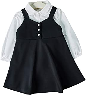 Girls Shirt +Suspender Skirt Two-piece Suit High Quality (Color : Photo Color, Size : 110)