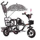 Triciclos Triciclo triciclo carro de bebé triciclo doble triciclo doble cochecito segundo niño bicicleta de tres ruedas cochecito de niño grande cochecito ajustable cochecito de cochecito de bebé / ro