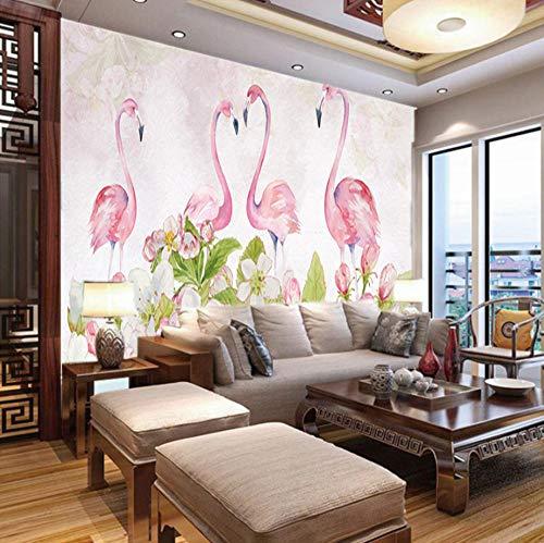 Fotobehang Ruimte Groen Flamingo, 150X100Cm Non-Woven muur muurschildering Fotobehang Beeld Thuis Slaapkamer Woonkamer Decoratie 300x210cm
