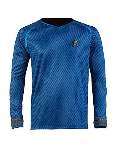 Cosparts Star Trek Into Darkness Spock Blue Man's T-Shirt (US Size XXL)