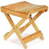 ETECHMART 12' Folding Bamboo Step Stool for Shower, Leg...