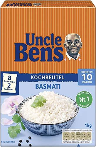 Uncle Ben's Basmati-Reis, Kochbeutel, 6 Packungen (6 x 1kg)