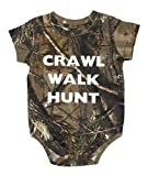 Crawl Walk Hunt Realtree Camo Baby Onesie - Hunting Baby Clothing (6 Month)