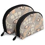 Wakeup Pig Funny Piggy Shellfish Bolsa de cosméticos Forma de Concha Bolsas de Almacenamiento portátiles Bolsa de Aseo de Viaje (Incluye 2 Bolsas)