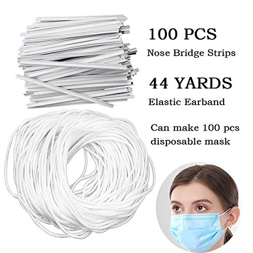 Evangelia.YM Art Crafts Accessories Elastic Rubber Bands for Face Shield Cover 6mm Width Multiple Functional Stretchy Cord Ropes Jewelry Making Kits Black