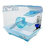DI ZE LIN PET HOME S.L DZL® Jaula para Hamster 34.5 * 26 * 32cm con caseta Bebedero comedero Rueda y Escalera (Aleatorio)