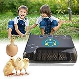 KKTECT Incubatrice di Uova 12 Uova, Rotazione Automatica delle Uova e Controllo della Temperatura, Incubatrice per polli Digitale Completamente Automatica per Fattoria, Uso Domestico