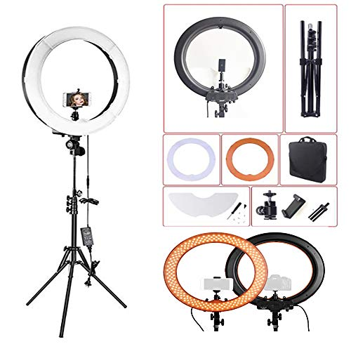 LED-ringlichtset, Statief Met Standaard, Dimbaar 3200-5500k Make-upringlicht Voor Vlog, Make-up, Camera, Video-opnamen, Portret