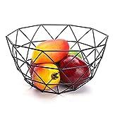 Assurer la circulation de l'air sans pareil pour vos fruits et légumes pour les garder frais plus longtemps. conception fond rond, production lisse, lisse polissage, en plaçant l'avion ne sera pas endommager vos meubles. Le panier de fruits avec un d...