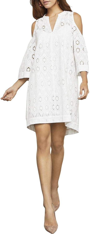 BCBG Max Azria Womens Regan Cold Shoulder Floral Mini Dress