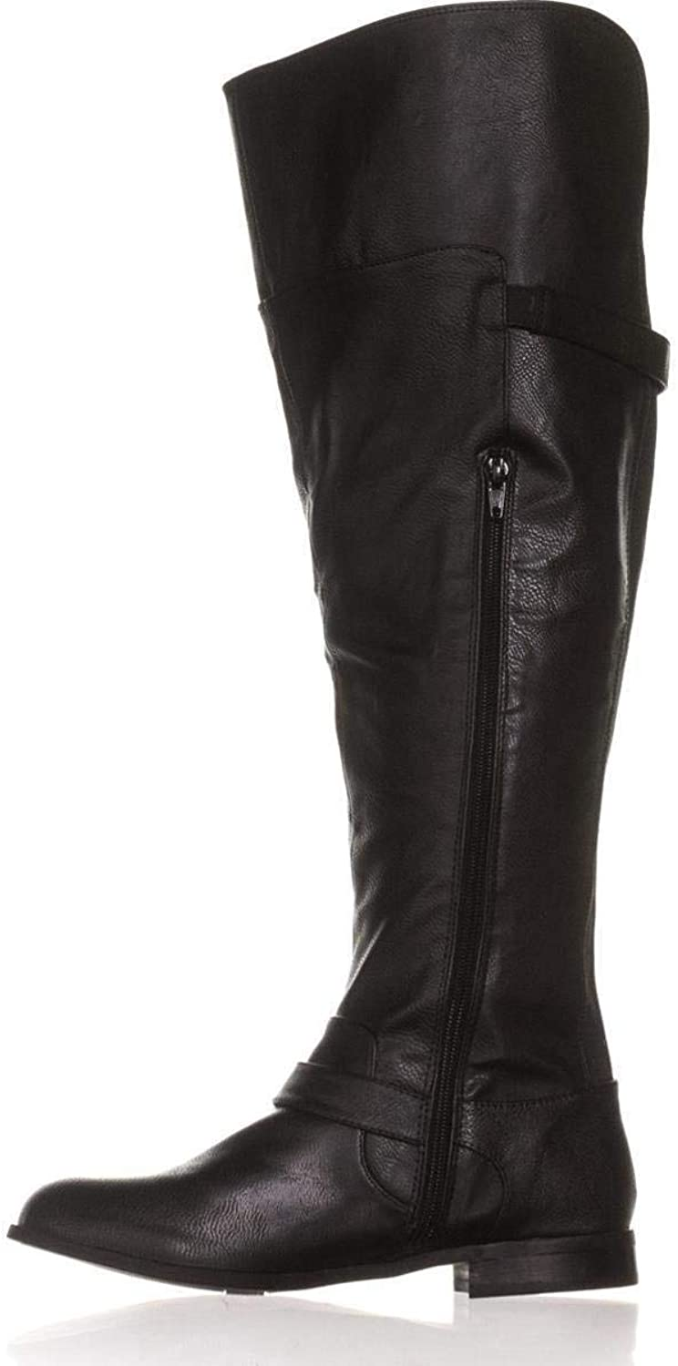 Bar III Womens Daphne Wide Calf Almond Toe Over Knee Fashion, Black, Size 5.5
