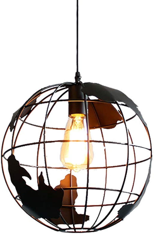 CCSUN Enfant Mavoitureon Lampe suspension, Créatif Lampe suspendue Spherical pendentif Lustres Luminaires intérieur Couloir Restaurant Décoration éclairage-Lustre noir D 20cm(8inch)
