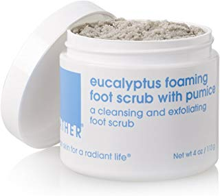 LATHER Eucalyptus Foaming Foot Scrub with Pumice 4 oz - a Clean rinsing, foaming Foot Scrub Developed Specially for The feet