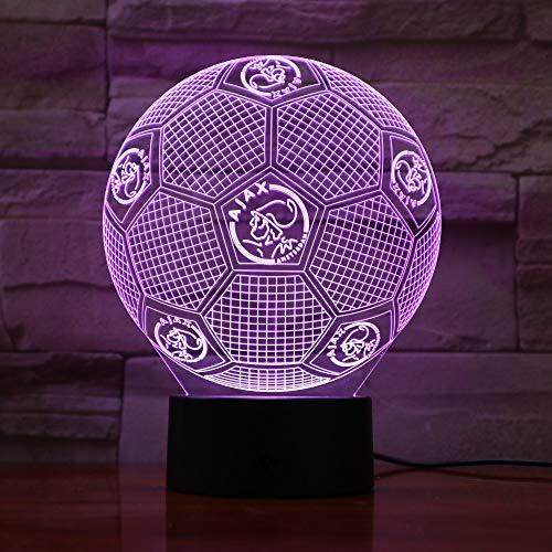 Kerstgeschenken USB 3D nachtlicht ajax slaapkamer LED Touch Lamp 7 kleuren veranderende 3D visuele Luminaria lamp 1 stuks.