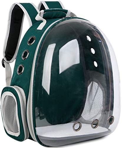 Your Cat Backpack: The Voyager Cat Backpack - Premium Pet Carrier Bag for Travel and Hiking - Clear Hardshell Bubble Capsule Front with Two Entryways, Removable Mat, and Adjustable Straps