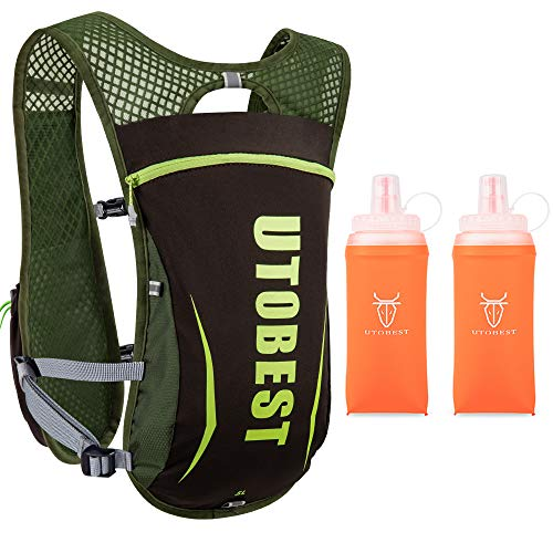 UTOBEST Running Backpack Hydration Pack Running Vests Mens 55L with 350ml Soft Flask